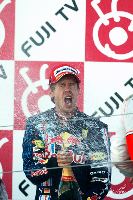 Vettel celebrates in style at Suzuka